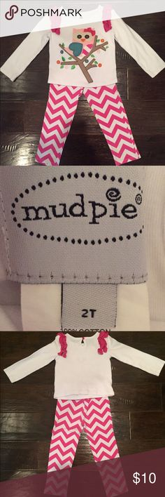 Mud Pie Owl Outfit Size 2t Great condition, no fading, worn once Mud Pie Matching Sets