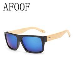 ffd928facb9 AFOOF 2016 New Fashion Bamboo Sunglasses Men Sun glasses Brand Designer  Women Mirror Original Eyewear Oculos