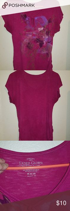 Women's Blouse A dark pinkish purple supper comfy blouse in great shape Faded Glory Tops Blouses