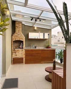 Rooftop Terrace Design, Balcony Design, Patio Design, House Design, Casa Cook, Outdoor Kitchen Design, Outdoor Living, Outdoor Decor, Backyard Patio