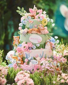 Image may contain: flower Fairy Birthday Cake, First Birthday Cupcakes, Birthday Cake With Flowers, Girl 2nd Birthday, Birthday Party Themes, Fondant Cakes Kids, Fondant Decorations, Peter Rabbit Cake, Flamingo Birthday