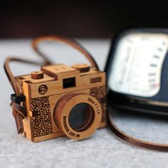 3D Wooden Camera | http://www.thefancy.com/things/245815581/3D-Wooden-Camera
