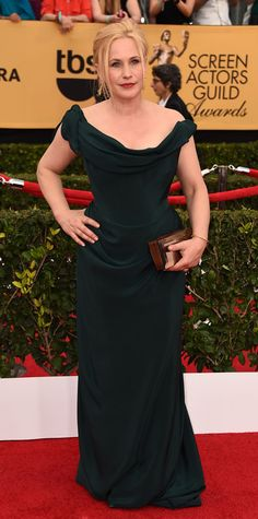 SAG 2015 Red Carpet Arrivals - Patricia Arquette from #InStyle