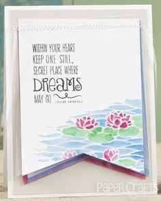Where Dreams Go card by Miriam Prantner - Paper Crafts & Scrapbooking September 2014; make cards, encouragement