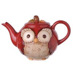 Grasslands Road Crimson Hollow Owl Teapot by Grasslands, http://www.amazon.com/dp/B00DQXQEQM/ref=cm_sw_r_pi_dp_leGnsb190BSV5