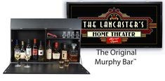 Introducing the original personalized Murphy Bar™. At first glance it's a beautiful piece of wall art. then voilà! it opens to a bar. Remote Desktop Services, Murphy Bar, Bourbon Gifts, New Operating System, Leather Journal, Gifts For Dad, Personalized Gifts, Game Room, Best Gifts