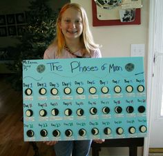 awesome school project on the phases of the moon. Remember if we ever have to do this someday! :)