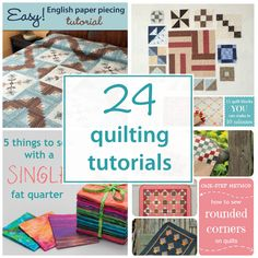 New quilt-tutorial roundup - 24 tutes to be exact! Pin it, bookmark it, however you do it—but save this post for the times when you need it. Happy quilting!
