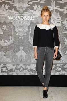 Clemence Poesy at Chanel's Mademoiselle Prive Exhibit in London.