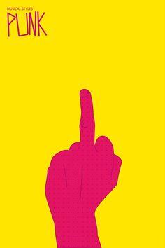 Music Signs : Punk (3/3) Art Print