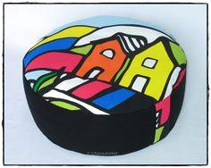 Boden- oder Yogakissen in tollem Design   :) ... auch im Shop vom Chaosatelier bei DaWanda  oder Etsy...   www.etsy.com/ chaosatelier.... reinschauen ;) !