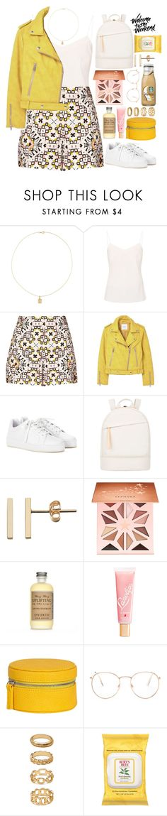 """""""🌕"""" by fashioneex ❤ liked on Polyvore featuring Jennifer Meyer Jewelry, Ted Baker, French Connection, MANGO, Loro Piana, Want Les Essentiels de la Vie, Sephora Collection, Lano, Glance Eyewear and Forever 21"""