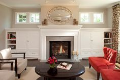 Love the mantle for the family room.