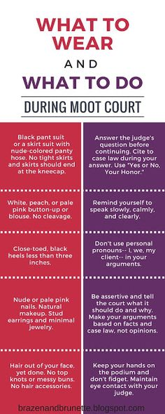What to wear and what to do during moot court in law school | brazenandbrunette.blogspot.com