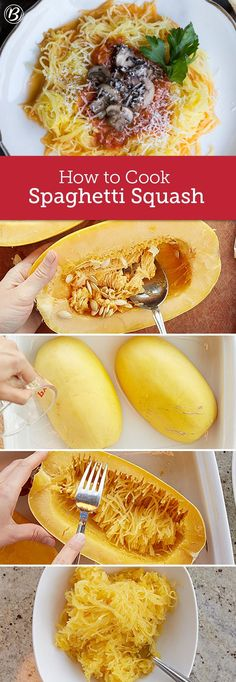 If you've ever tried spaghetti squash, you know it's a perfect substitute for noodles. It's easy to cook spaghetti squash in the oven in just 30 minutes. Topped with a rich marinara or freshly shredded Parmesan, you'll be hooked after your first bite! Here are a few of our favorite ways to cook a meal from spaghetti squash.