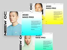 Nike | Mobile Version by Givi Dautashvili for Bold Monkey on Dribbble Web Design, App Ui Design, Logo Design, Web Layout, Layout Design, Front End Design, Presentation Layout, Catalog Design, Corporate Design