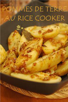 Pommes de terre et échalotes confites au rice cooker - Passion gourmandise
