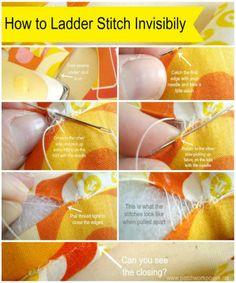 ladder stitch tutorial for closing plush toys