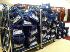 Patriots bags, packed & ready for Indy - Sun, Jan 29, 2012