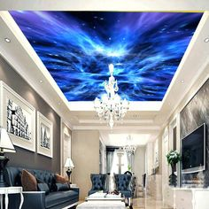 Star Night Forest Sky 00099 Ceiling Wall Mural Wall paper Decal Wall A – IDecoRoom Paper Wallpaper, Kids Wallpaper, Self Adhesive Wallpaper, Peel And Stick Wallpaper, Wallpaper Ceiling, Custom Wallpaper, Wallpaper Murals, Photo Wallpaper, Ceiling Murals