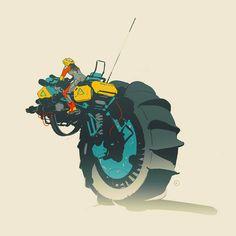 GyroBikes! Unused quick concepts (2014) by Calum Alexander Watt