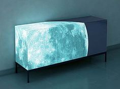 """Full Moon"" sideboard with glow-in-the-dark artwork designed by Sotirios Papadopoulos in a limited edition of only 24 pieces"