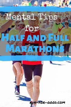 Mental Tips for Half and Full Marathon Running - Run For Good Running Songs, Running Humor, Running Training, Running Tips, First Marathon, Half Marathon Training, Marathon Running, One Song Workouts, Workout Songs
