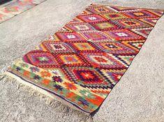 Tapis Kilim turc, tapis, tapis kilim, tapis kelim, tapis vintage, bohème tapis, tapis turc, tapis, kilim jaune, tapis, tapis, tapis de zig zag, 465