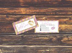 NEW! LipSense Business Cards - SeneGence International - LipSense - Distributor - Lipsense Pink and Gold, Personalized Business Card by CreativeMomBoss on Etsy