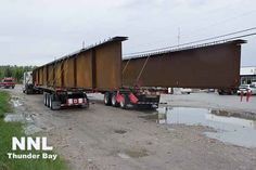IGNACE – Construction of the Nipigon Bridge is continuing. Today two large bridge girders are headed to the Nipigon Bridge construction site. The girders are coming in from the west, and this morning were in Ignace Ontario. The wide load is taking its time coming in to assure safety on the roadway. The Nipigon Bridge …