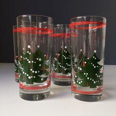 Waechtersbach Christmas Tree Glass Tumblers SET by OwliceandStone