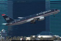 Aviation Photo Boeing - US Airways Boeing Aircraft, Boeing 777, Great Photos, View Photos, Us Airways, Mountain City, Little Giants, Southwest Airlines, Commercial Aircraft