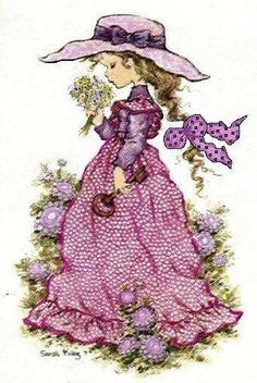 """Sarah Kay - Album """"Si on jouait"""" Sarah Key, Hobbies For Couples, Hobbies To Try, Hobbies For Women, Vintage Cards, Vintage Postcards, Decoupage, Hobby Horse, Holly Hobbie"""