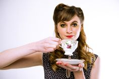 Vintage tea cup and saucer from Oh So Sweet Occasions. Photo, hair and make-up by Beautyteam. Vintage China, Vintage Tea, Tea Cup, Cup And Saucer, Tea Pots, Photoshoot, Ethnic Recipes, Sweet, How To Make