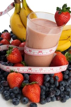 Fruity Carbohydrate High Protein Shake – (Post or Pre-Workout)      1 banana (cut in pieces and frozen)  4-6 whole strawberries (from frozen berry package)  1/2 cup low fat yogurt (or Brown Cow cream top for more calories)  1 cup orange or pineapple juice  2 scoops Vanilla Whey Powder