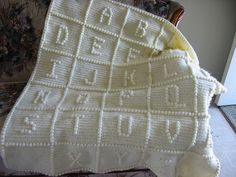 Learn how to 'emboss' letters ~ free crochet pattern.