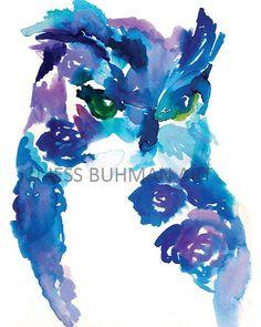 Impression+de+peinture+aquarelle+originale+par+ArtbyJessBuhman