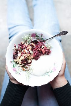 Simple Vegan Blackberry Crumble and thoughts on Food Photography The Little Plantation Blog