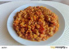 Ragú z červené čočky recept - TopRecepty.cz Challah, Chana Masala, Risotto, Grains, Cooking, Ethnic Recipes, Food, Fitness, Diet