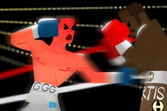 Boxing, Beomjin Kim on ArtStation at https://www.artstation.com/artwork/arWzL