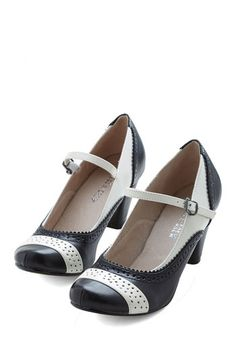 1940s shoes: Refined Your Purpose Heel in Monochrome