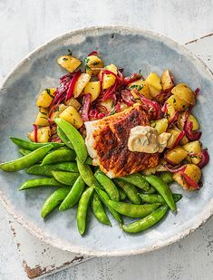 Paprika-Spiced Cod With Herbed Potatoes & Garlic Mayo | sheerluxe.com