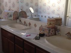 """Stange """"before"""" picture. Master Bath"""