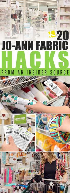 Use coupons (even Hobby Lobby or Michaels coupons), rebates from Ibotta and 20 Jo-Ann Fabric hacks!