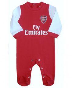 Arsenal Baby Core Kit Sleepsuit - 2015/16 Season
