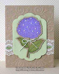 Kraft Hydrangea Card by Anne Gaal of Gaal Creative at http://www.gaalcreative.com - Feel free to re-pin! ♥