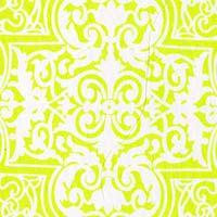 Marakkesh Spring Cotton - Sulphur Spring Green/White