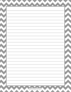 Printable gray chevron stationery and writing paper. Multiple versions available with or without lines. Free PDF downloads at http://stationerytree.com/download/gray-chevron-stationery/