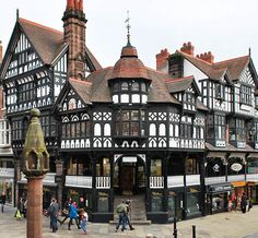 Wonderful historical city with tudor style buildings! Step back in time in the city of Chester, England, built on the o… – architecture England And Scotland, England Uk, Beautiful Buildings, Beautiful Places, Great Places, Places Ive Been, Places To Travel, Places To Visit, Places In England