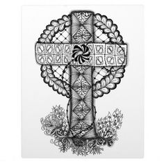 zentangle crosses | Zentangle Inspired Cross Plaques